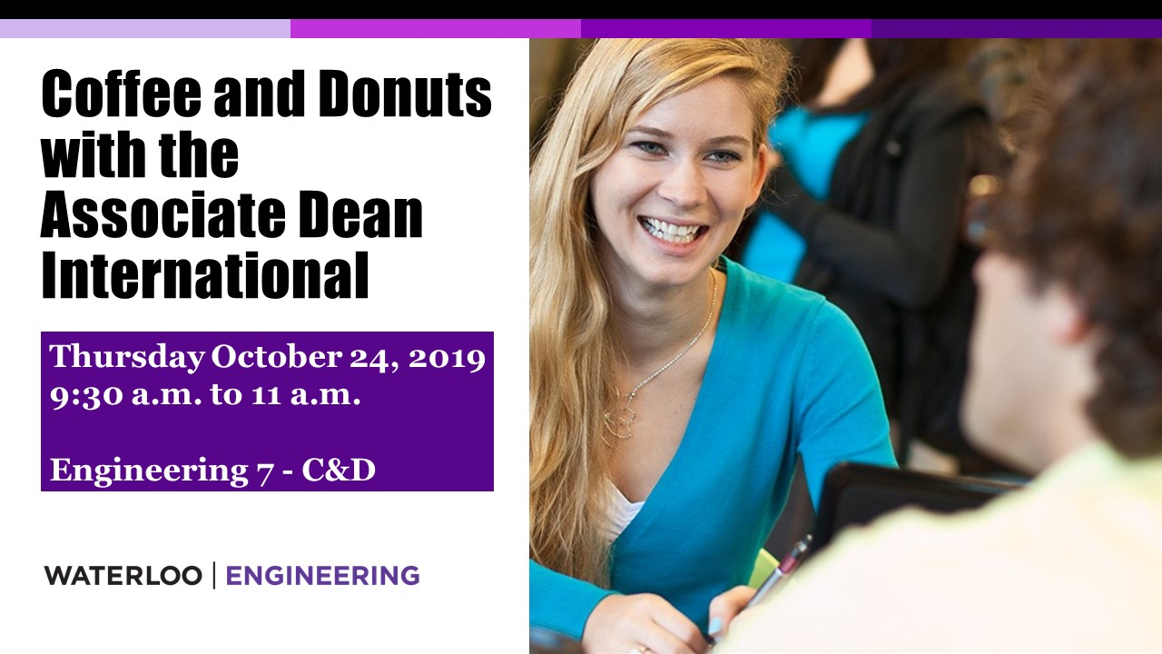 Coffee and donuts with the Associate Dean, International