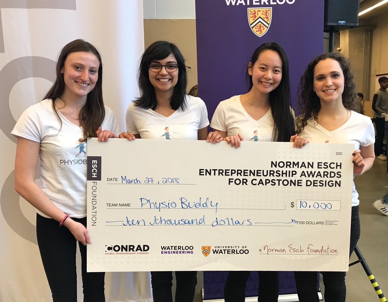 Norman Esch Entrepreneurship Awards For Capstone Design Systems Design Engineering University Of Waterloo