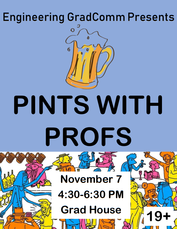 Pints with profs poster