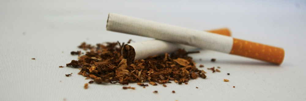 cigarettes on a white table