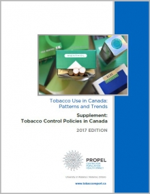 Cover of the 2017 policy report, image of menthol package of cigarettes