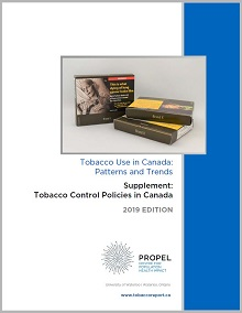 Cover of Tobacco control policies in Canada supplement