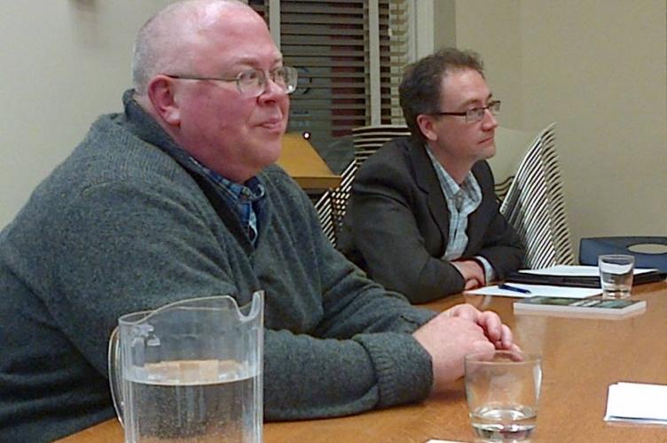 Professor Peter Blum and Jeremy Bergen, Interim Director of TMTC.