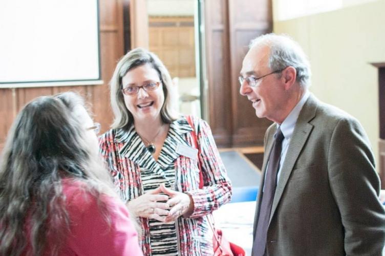 Conrad Grebel University College President, Dr Susan Schultz Huxman, and John Rempel