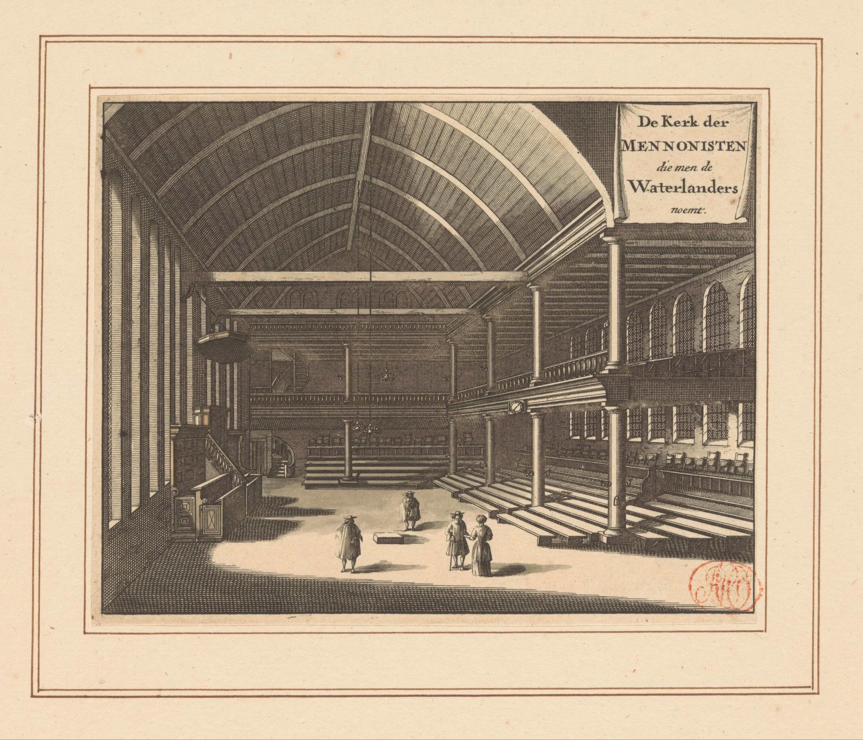 this: Interior of the Mennonite Church in Amsterdam