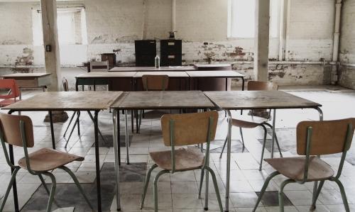 old basement classroom