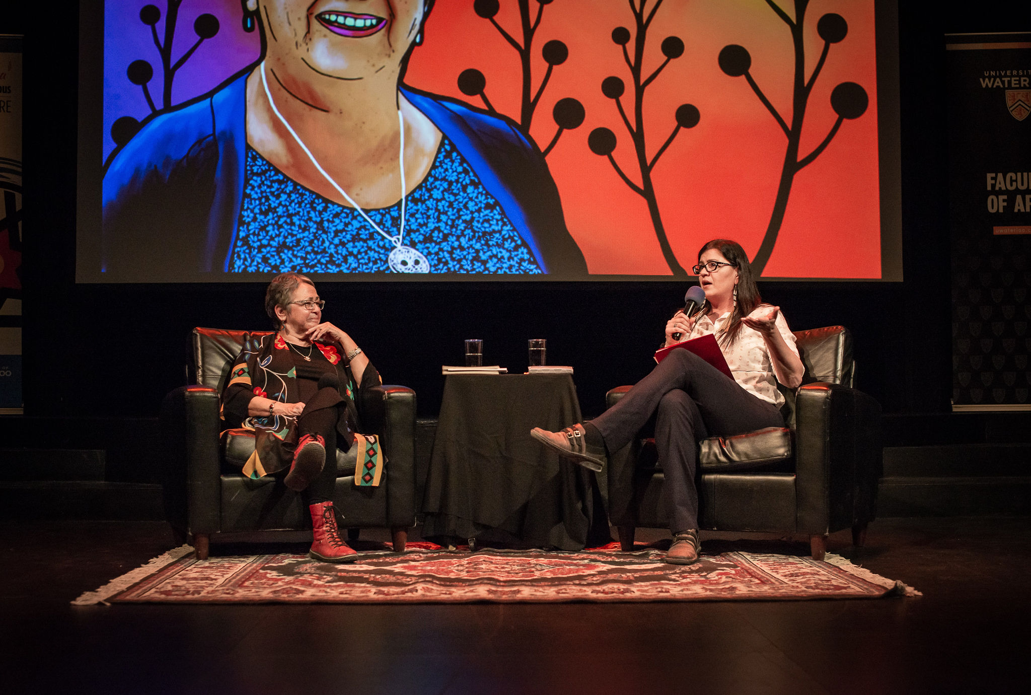 Jean Becker and Lori Campbell in conversation on stage