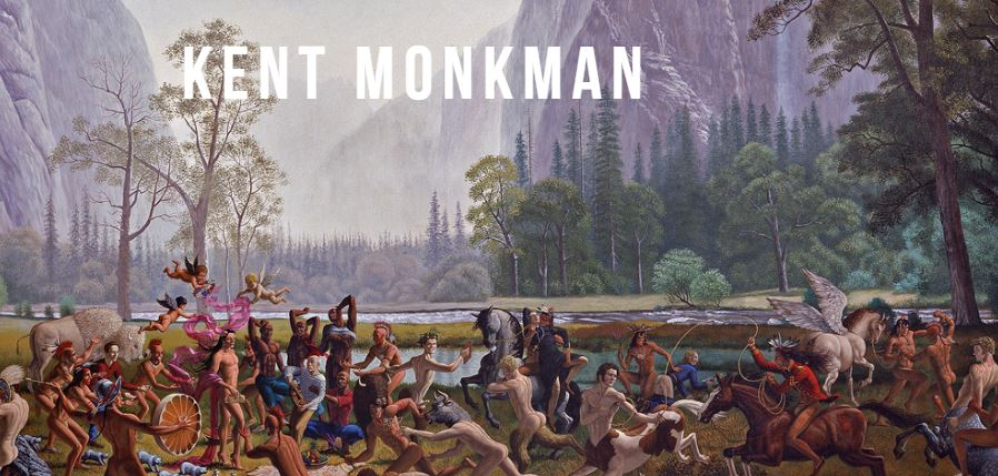 detail from Kent Monkman painting of a massacre