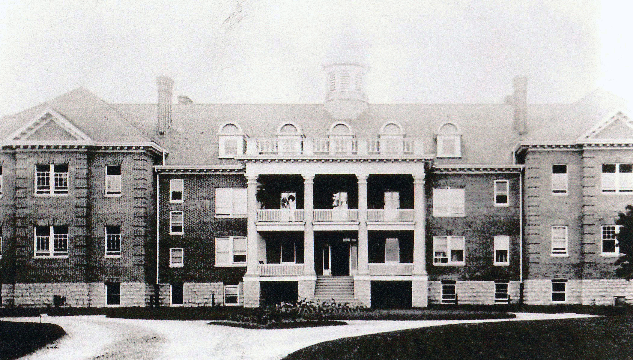 archival image of old school building