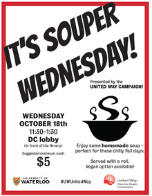 Souper Wednesday event poster