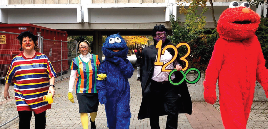 2019 march of the deans, dressed as Sesame Street characters