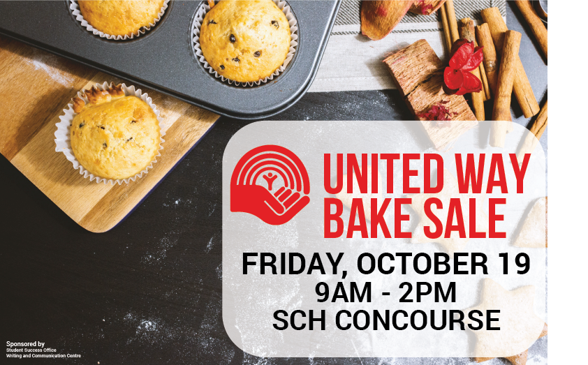 flyer of United Way bake sale on October 19th 2018