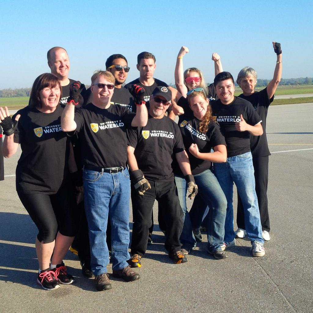 Team Waterloo at United Way Plane Pull