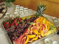 Tray of fresh fruit