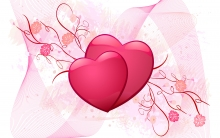 multiple pink hearts