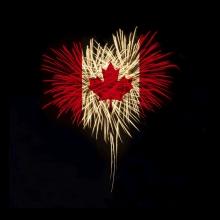 Canada flag firework