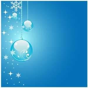 christmas balls, blue