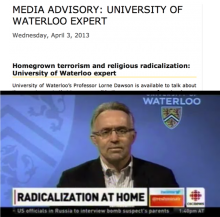 Screenshot of UWaterloo expert media advisory showing layout described in template