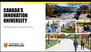 Sample cover slide showing title and campus photo