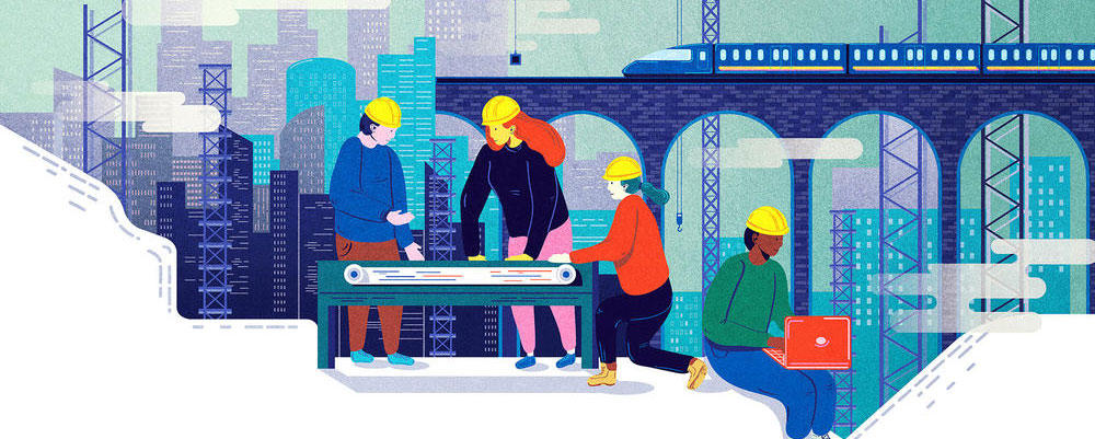 Illustrated urban engineers