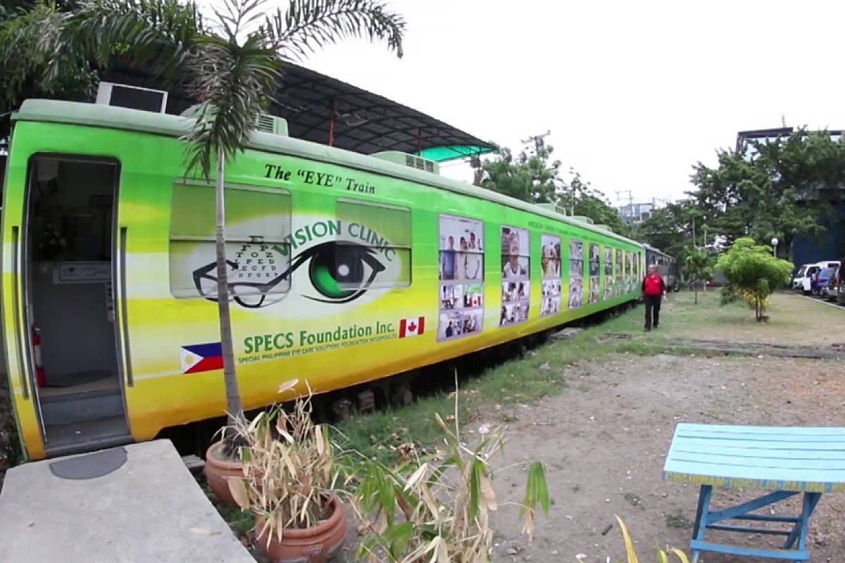 The Eye Train, a mobile vision clinic in the Philippines