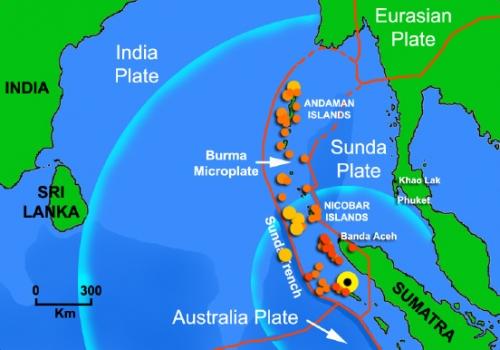 The 9.0 Mw earthquake epicentre