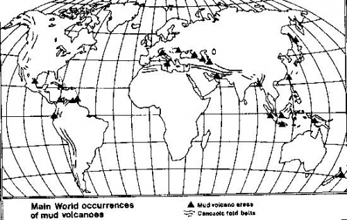 Map of the globe