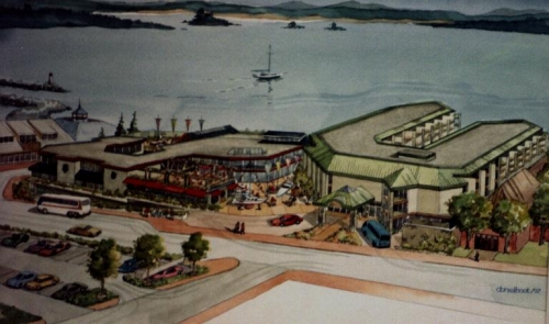 Artist's impression of the new waterfront development