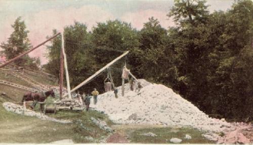 Talc mine, 1891