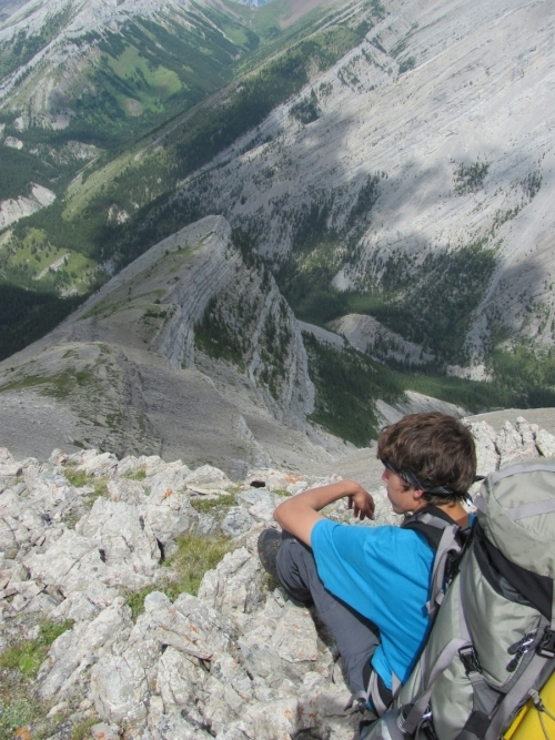 Tyler on his three week backpacking trip into the Canadian Rockies