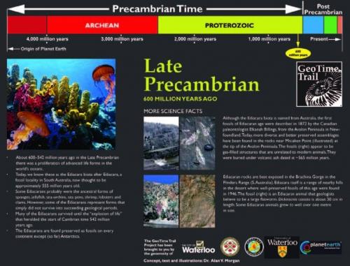 Late Precambrian information