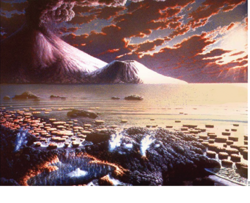 Artist's conception of what Lake Superior might have looked like billions of years ago.