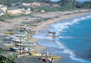 The beach at Hambantota, 1995