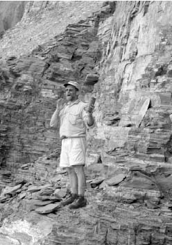 Jon Dudley standing on cliffslide