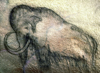 Cavemen drawing of a mammoth
