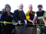"""The """"official"""" ribbon cutting ceremony. (From left to right; Brenda Halloran, Alan Morgan, David Johnston and Terry McMahon)"""