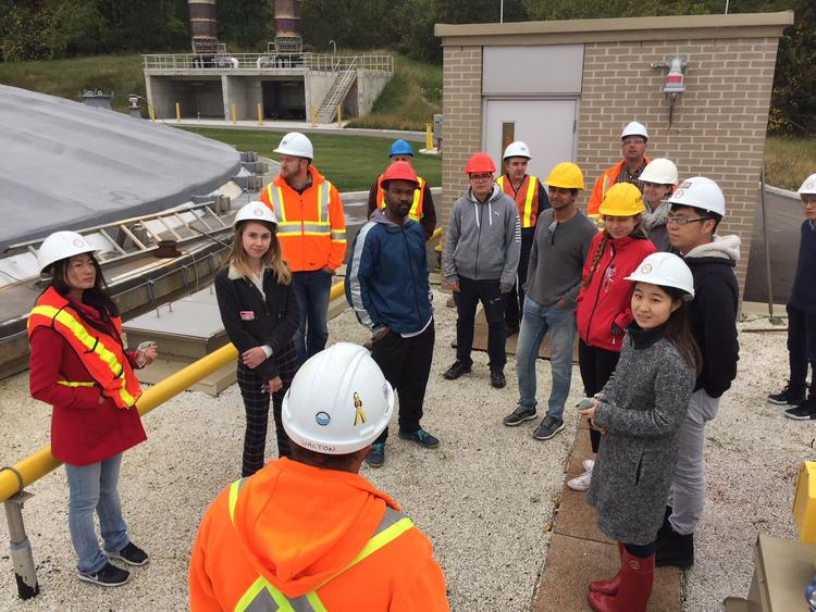students at wastewater treatment plant in kitchener