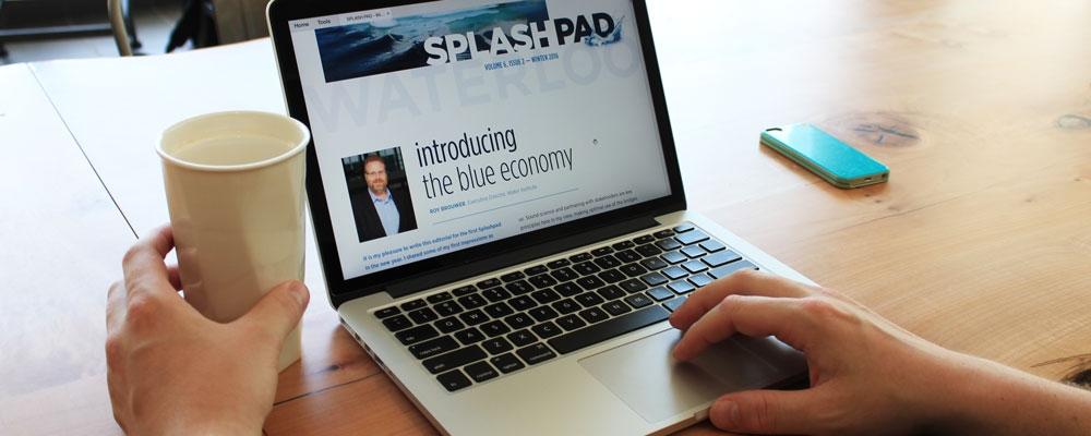 splashpad on laptop
