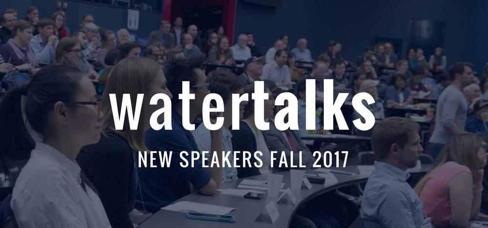 WaterTalks fall banner