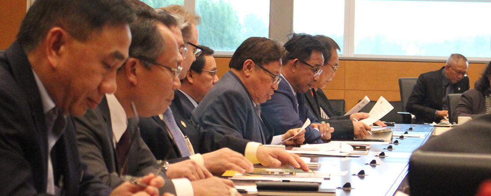State of Sarawak Chief Minister at Water Institute University of Waterloo