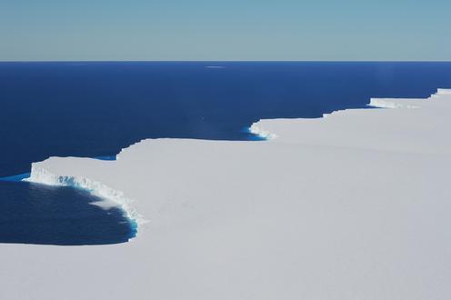 The front of Nansen Ice Shelf