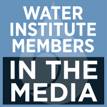 water institute members in the media