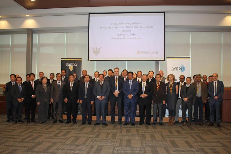 state of sarawak delegation visit to Water Institute Waterloo