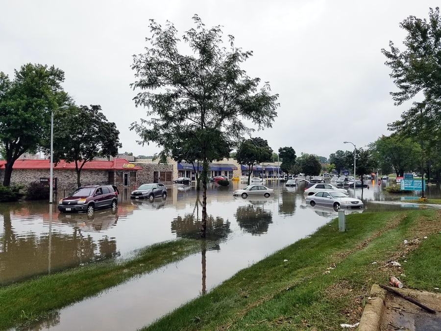 flooding scene