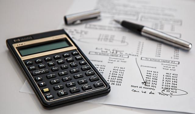 calculator, graph, pen