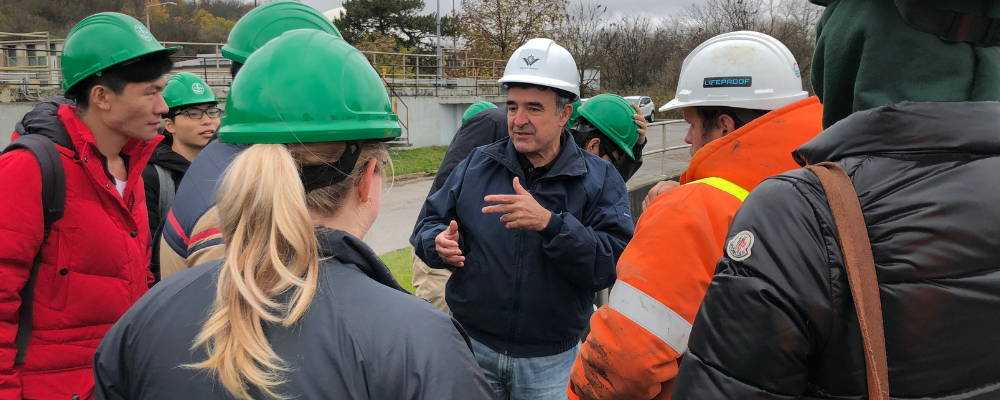 students at wastewater treatment plant