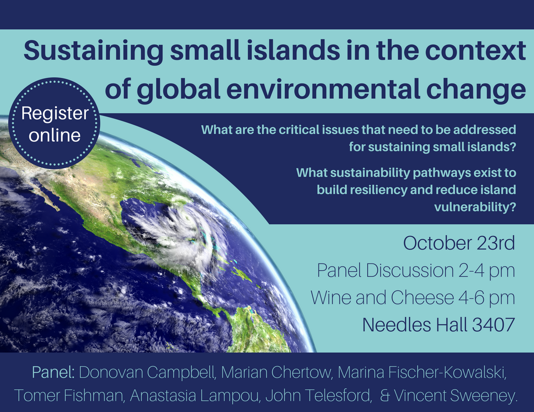 Sustaining small islands in the context of global, environmental change