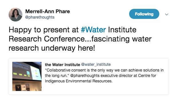 Merrel-Anne Phare tweet