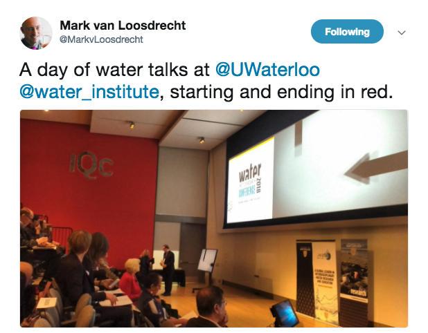Water research conference tweet