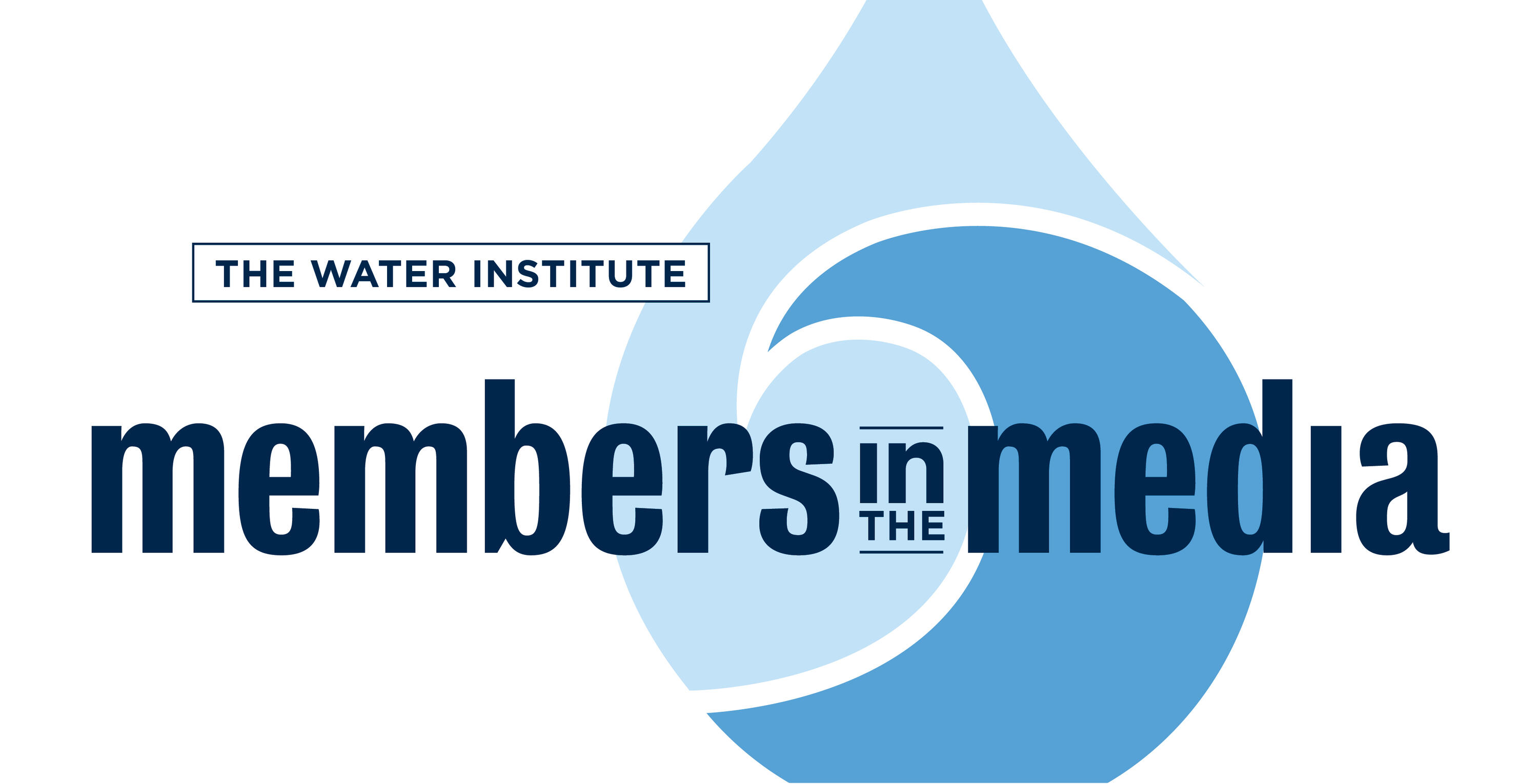 Water Institute logo with Members in the Media across it.
